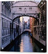 Bridge Of Sighs And Morning Colors In Venice Acrylic Print
