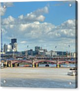 Bridge Over River Thames In London Acrylic Print