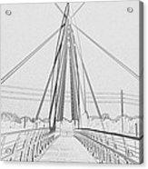 Bridge Sketch Acrylic Print by David Alvarez