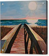 Bridge To Beach Acrylic Print