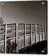 Bridge To The Falls Acrylic Print