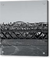 Bridges Of Newcastle On Tyne Acrylic Print