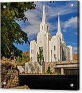 Brigham City Temple Stones Acrylic Print