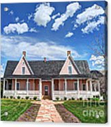 Brigham Young Forest Farm Home Acrylic Print