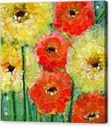 Bright Colored Flowers Shine Acrylic Print