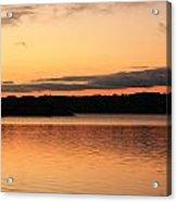Bright Morning Skies On The Lake Acrylic Print