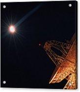 Bright Star And Satellite Dish Acrylic Print