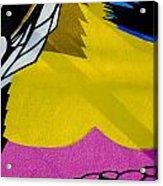 Bright Yellow Acrylic Print
