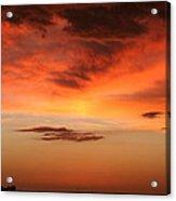 Brilliant Sunrise Over Montevideo Acrylic Print