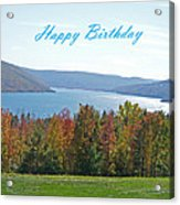 Bristol Harbor Birthday  Acrylic Print