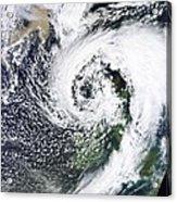 British Isles Storm And Ash Plume, 2011 Acrylic Print