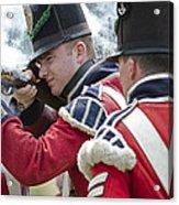 British Soldier Shooting Acrylic Print
