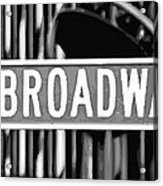 Broadway Sign Color Bw10 Acrylic Print