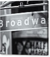 Broadway Street Sign II Acrylic Print