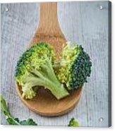 Broccoli Acrylic Print by Sabino Parente