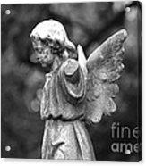 Broken Angel Bw Acrylic Print