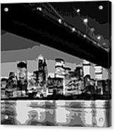 Brooklyn Bridge @ Night Bw8 Acrylic Print