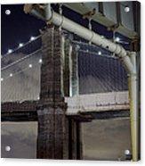 Brooklyn Bridge And A Drain Acrylic Print