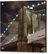 Brooklyn Bridge At Night - Btc-merge Acrylic Print