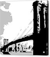 Brooklyn Bridge Bw Acrylic Print