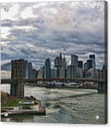Brooklyn Bridge Carousel Acrylic Print