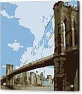Brooklyn Bridge Color 6 Acrylic Print