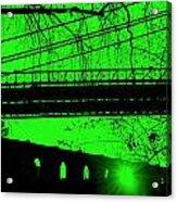 Brooklyn Bridge In Green Acrylic Print