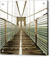Brooklyn Bridge Acrylic Print by Ixefra