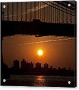 Brooklyn Bridge Sunrise Acrylic Print