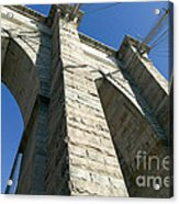 Brooklyn Bridge Tower I Acrylic Print