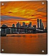 Brooklyn's Twilight V2 Acrylic Print by Michael Murphy