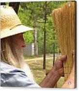 Broom Maker Acrylic Print