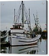 Brown And White Fish Boat Acrylic Print