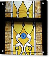 Brown Stained Glass Window Acrylic Print