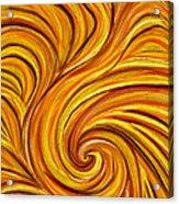 Brown Swirl Acrylic Print
