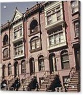 Brownstone Apartments Under Renovation Acrylic Print