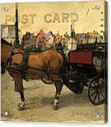 Brugge Carriage Acrylic Print