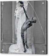 Brunnenbuberl - Boy At The Fountain -  Munich Germany Acrylic Print by Christine Till