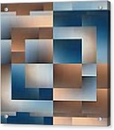 Brushed 11 Acrylic Print by Tim Allen