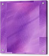 Brushed Purple Violet 1 Acrylic Print
