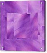 Brushed Purple Violet 2 Acrylic Print