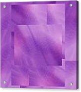 Brushed Purple Violet 5 Acrylic Print