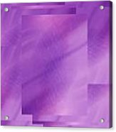 Brushed Purple Violet 6 Acrylic Print