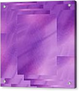 Brushed Purple Violet 7 Acrylic Print