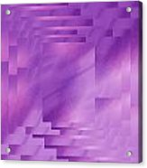 Brushed Purple Violet 8 Acrylic Print