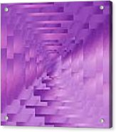 Brushed Purple Violet 9 Acrylic Print