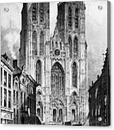 Brussels: Cathedral, 1838 Acrylic Print