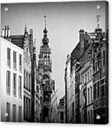 Brussels In Black And White Acrylic Print