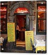 Brussels - Restaurant Savarin Acrylic Print
