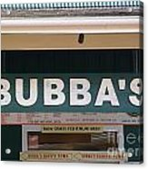 Bubba Burgers Acrylic Print